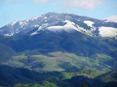 Mt. Diablo with snow